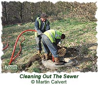 Clearing out the sewer