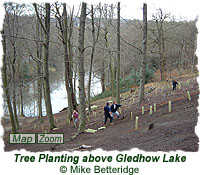 Tree planting activity on the slopes above Gledhow Lake