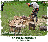 Chainsaw scuplture