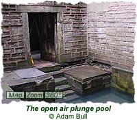 The open air plunge pool