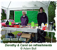 Dorothy and Carol on refreshments