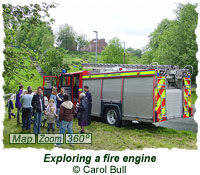 Exploring a fire engine