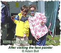 After visiting the face painter