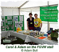 Carol & Adam on the FGVW stall