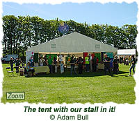The tent with our stall in it