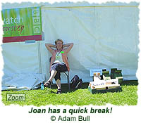 Joan has a quick break!