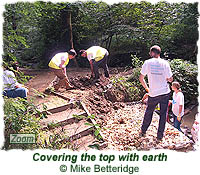 Covering the top with earth