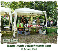 Home-made refreshments tent
