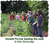 Donald Purves leads the walk