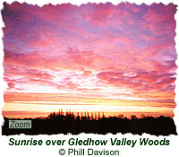 Sunrise over Gledhow Valley Woods