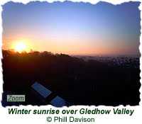 Winter sunrise over Gledhow Valley