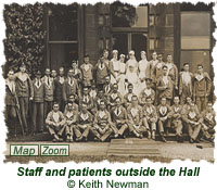 Staff and patients outside the Hall