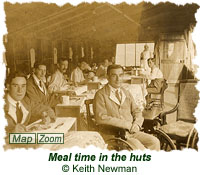Meal time in the huts